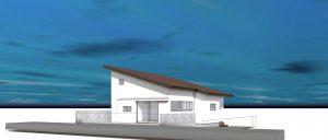 片流れ屋根の住まい(小山市)