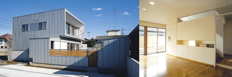 シンプルな箱の現代住宅