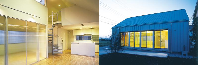 シンプルな切妻屋根の家